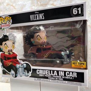 Cruella in car funko pop